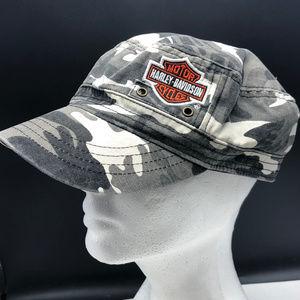 Harley Davidson camo hat cap camouflage gray cycle